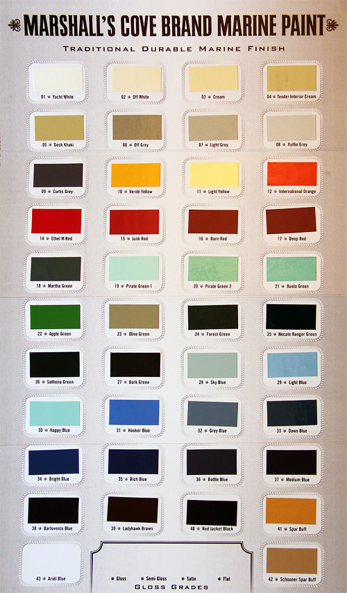 Marshalls Cove Brand Marine Paints